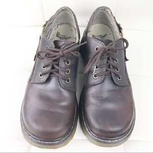 Dr Martens Brown Thick Soled Oxfords, 7